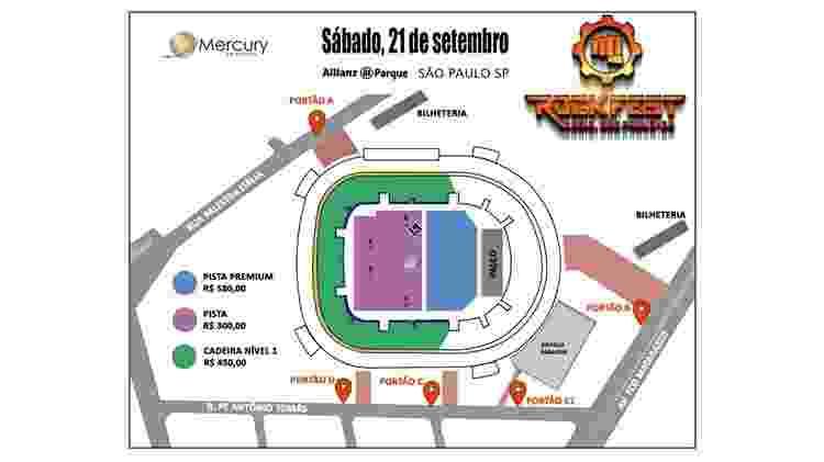 Mapa Rockfest sp - Divulgação - Divulgação