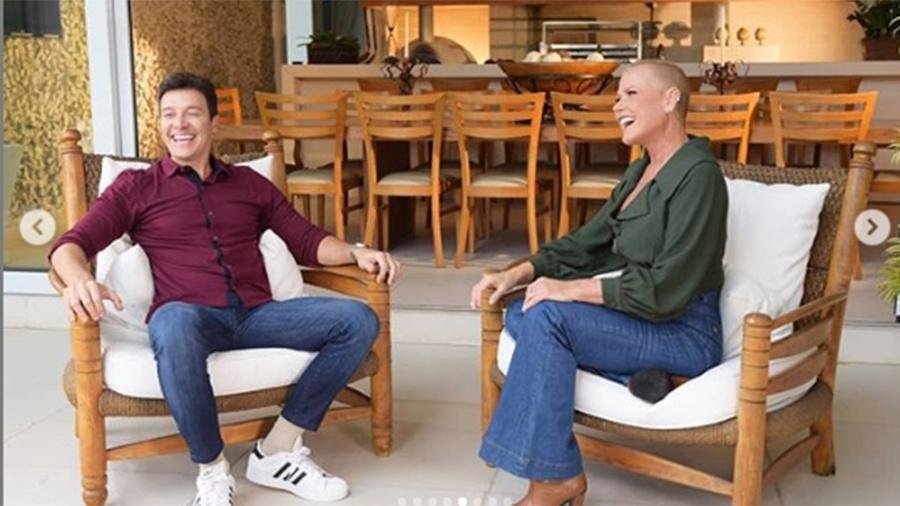 """Xuxa conversa com Rodrigo Faro no """"A Hora do Faro"""" - Reprodução/Instagram"""