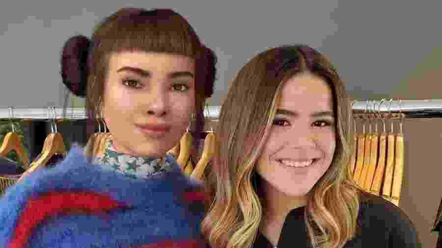 Lil Miquela e Maisa Silva - Reprodução/Instagram