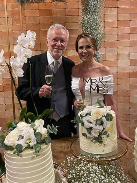 Alexandre Garcia se casa aos 79 anos - Reprodução/Instagram