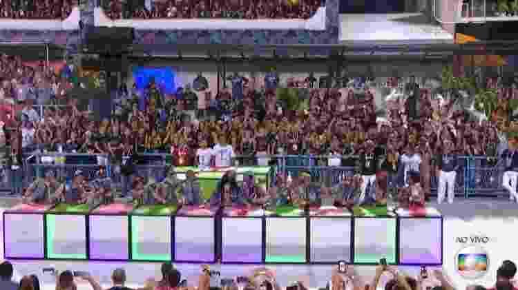 Comissão de frente da Mangueira - Reprodução/TV Globo - Reprodução/TV Globo