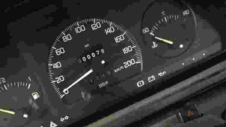 Hodômetro do Fiat Uno 70S não deixa mentir; apesar de antigo, carro foi mesmo comprado zero-quilômetro - Arquivo pessoal - Arquivo pessoal