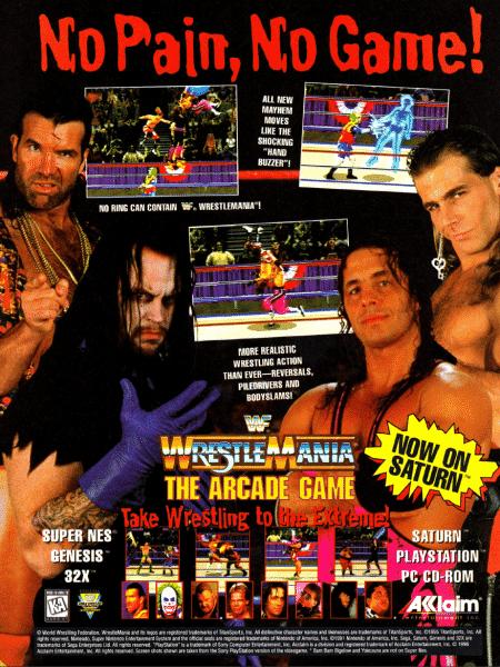 WWF The Arcade Game Promo - Reprodução/Start - Reprodução/Start