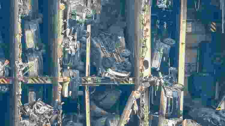 navio tombado 4.200 carros Georgia MV golden Ray naufrágio resgate cargueiro - Reprodução/Barry Barteau/Facebook - Reprodução/Barry Barteau/Facebook