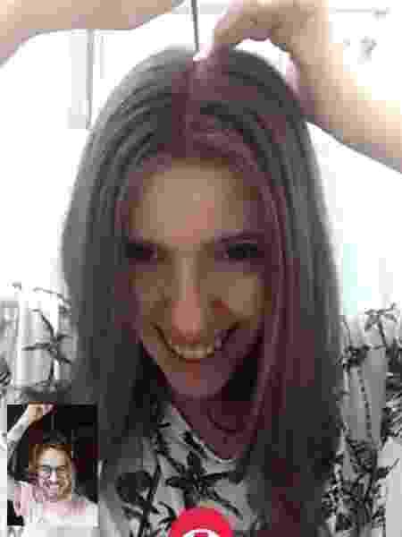 Joanna - telecorte - dividindo com o pente  - Joanna Martini - Joanna Martini