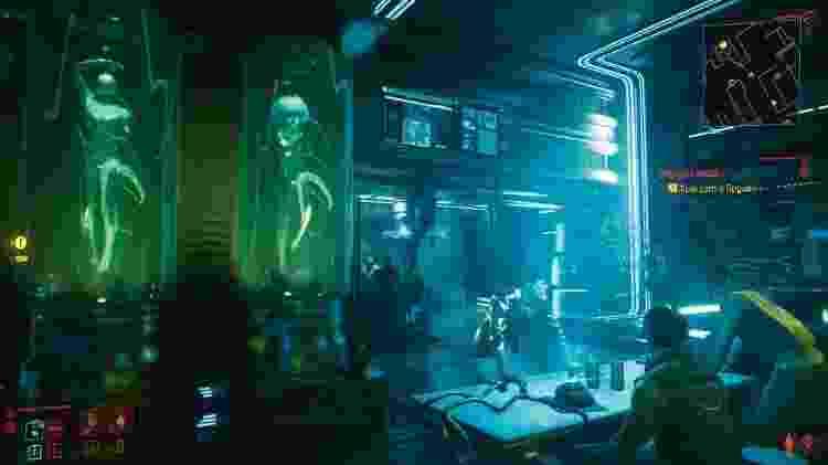 Cyberpunk 2077 sala - Reprodução/GameHall - Reprodução/GameHall