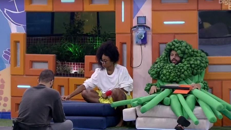 BBB 21: Projota conversa com Gilberto e Lumena - Reprodução/ Globoplay
