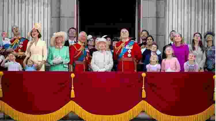 Em 2019, membros da família real comemoraram o aniversário da rainha no Palácio de Buckingham - PA Media - PA Media
