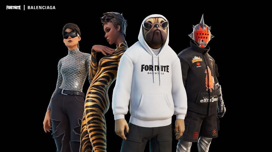 Parceria entre Fortnite e Balenciaga apresenta novos ítens ao jogo - Divulgação/Epic Games