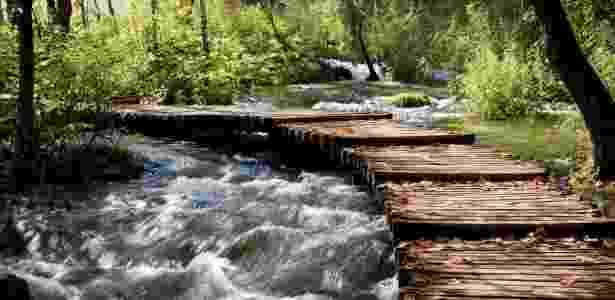 Há 16 lagos no parque, um alimentando o outro com a água que cai em cascatas - Getty Images - Getty Images