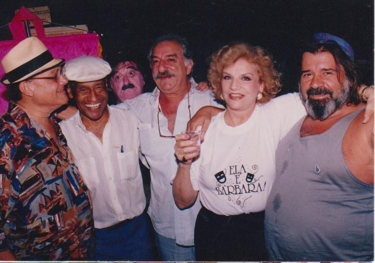 Germano Mathias, Carlão, Renato Consorte, Tônia Carrero e Plínio Marcos