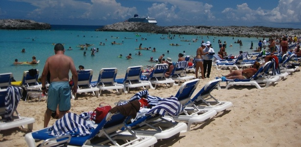 Ilha de Great Stirrup Cay, nas Bahamas