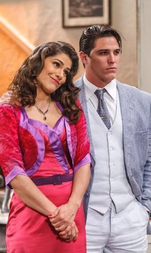 Diana (Priscila Fantin) e Braz (Romulo Neto) conseguem dar o golpe em Severo (Tarcísio Filho) em
