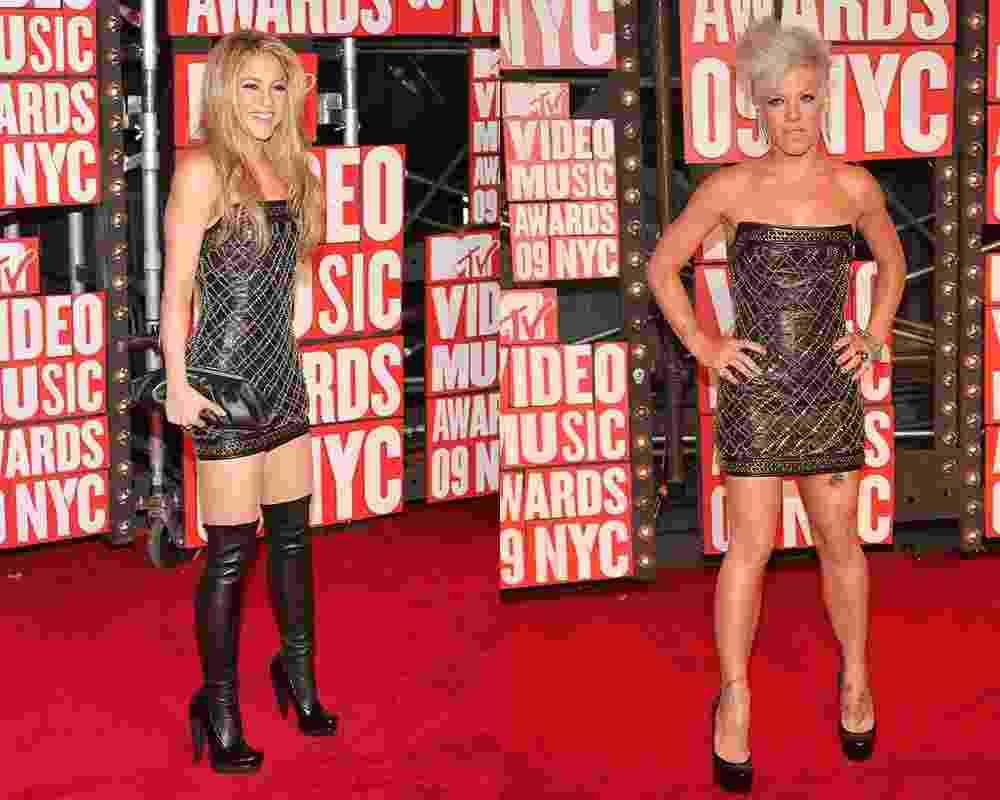 Shakira e Pink usam o mesmo vestido no VMA 2009 - Getty Images