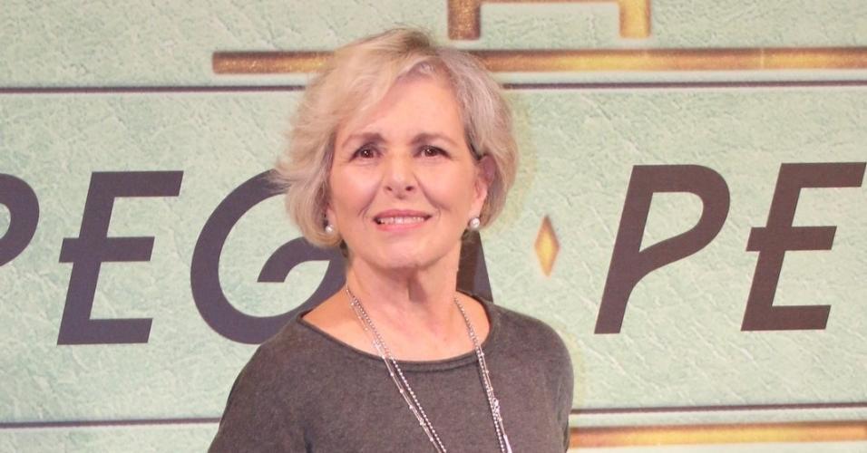 "Irene Ravache comparece ao lançamento de ""Pega Pega"", novela das sete da Globo"