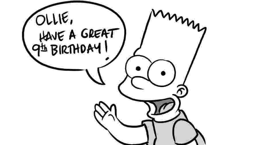 Até o Bart Simpson deixou seu parabéns - Reprodução/Twitter.com/monkeyes