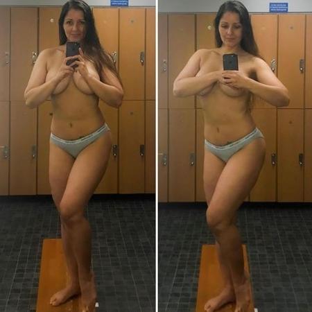Nana Gouvea faz foto seminua no espelho - Reprodução/Instagram Nana Gouvea oficial