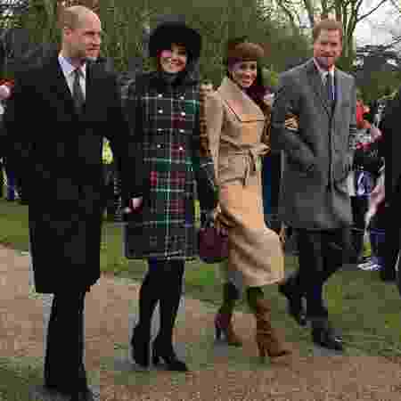 Príncipe William,  Kate Middleton, Meghan Markle e príncipe Harry  - Karen Anvil/@Anvilius/Twitter