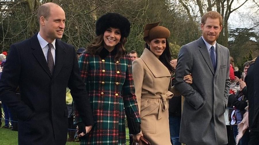 William, Kate, Harry e Meghan não economizam em homenagens à princesa de Gales - Karen Anvil/@Anvilius/Twitter