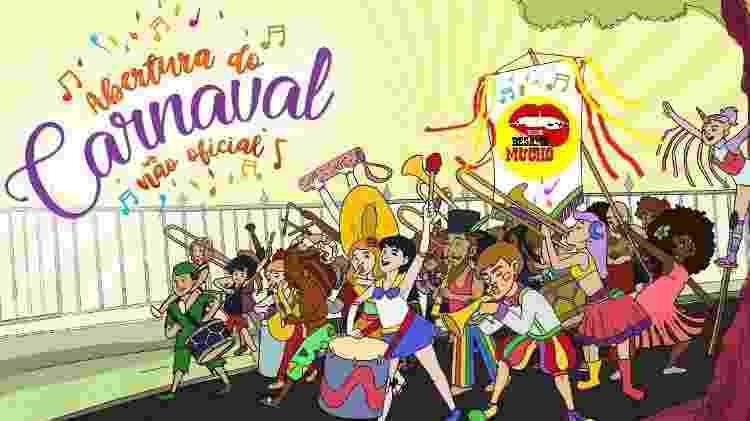 Pôster abertura do Carnaval Não Oficial - Reprodução - Reprodução