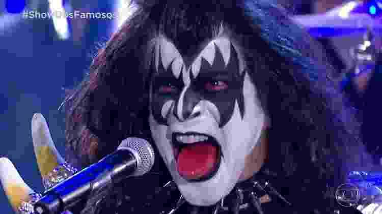 Paulo Ricardo em sua versão de Gene Simmons, do Kiss - Reprodução - Reprodução