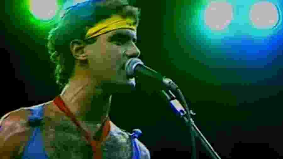 Cazuza no Rock in Rio em show do Barão Vermelho - Reprodução