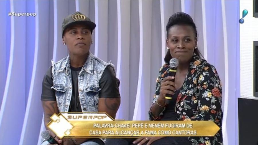 """As cantoras Pepê e Neném participaram do """"Superpop"""" - Reprodução/RedeTV!"""