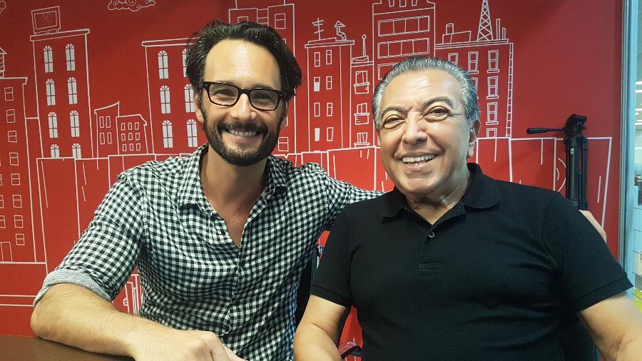 """Rodrigo Santoro e Mauricio de Sousa, criador da """"Turma da Mônica"""" - Divulgação"""