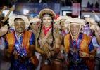 Fantasiada de Maria Bonita, Gracyanne samba na quadra da União da Ilha - Leo Cordeiro/Divulgação