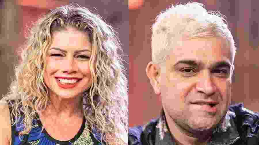 """Catia Paganote e Evandro Santo formaram a décima roça de """"A Fazenda 10"""" - Montagem/Edu Moraes/Record TV"""