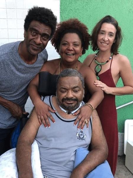 Hélio de la Peña, Babi Cruz, Ana Quintella e Arlindo Cruz - Reprodução/Instagram