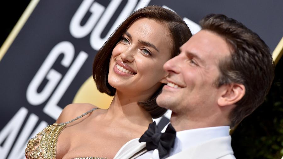 Irina Shayk e Bradley Cooper no tapete vermelho do Globo de Ouro de 2019 - Axelle/Bauer-Griffin/FilmMagic