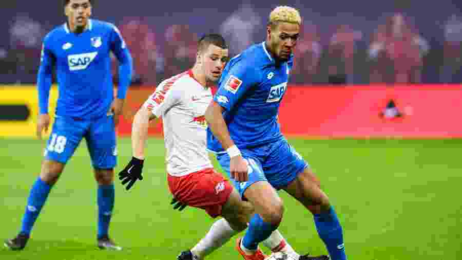 O atacante Joelinton, do Hoffenheim, é muito bem cotado no Fifa - Kevin Voigt/Xinhua