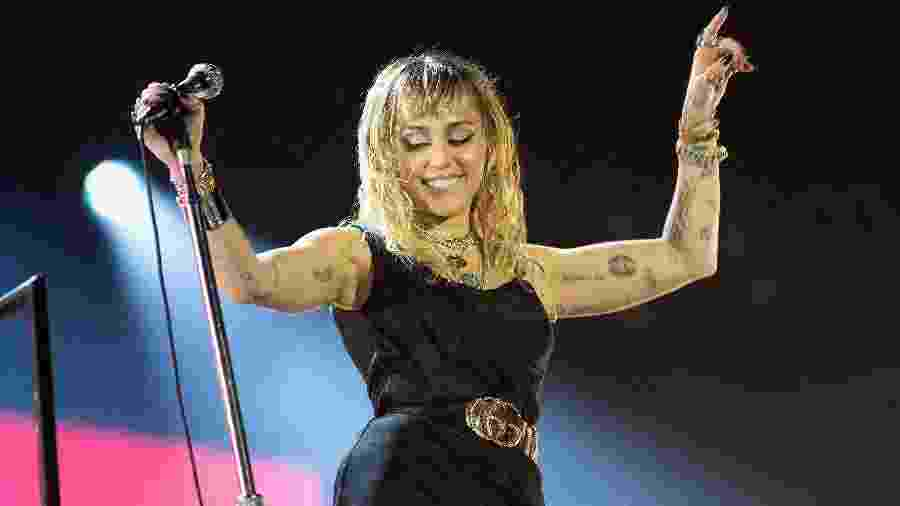 Miley Cyrus durante show no festival Big Weekend - Jo Hale/Redferns