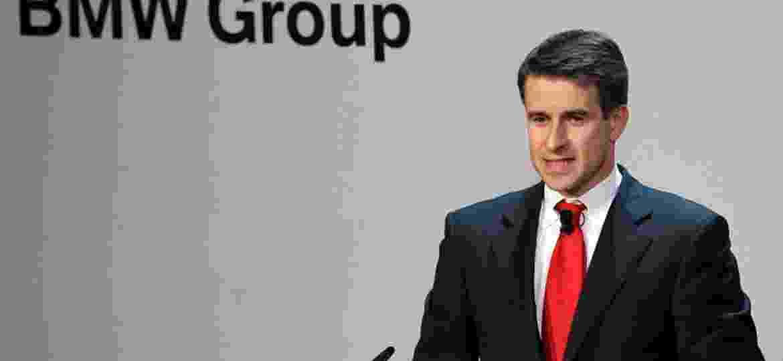 Stefan Quandt fala ao conselho diretor sobre os 50 anos da BMW, em evento de 2010  - Guenter Schiffmann/Bloomberg