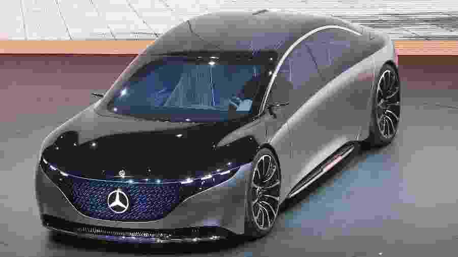Vision EQS ainda é conceito, mas está bem próximo da versão final; sedã vai conviver com o SUV elétrico EQC - AFP