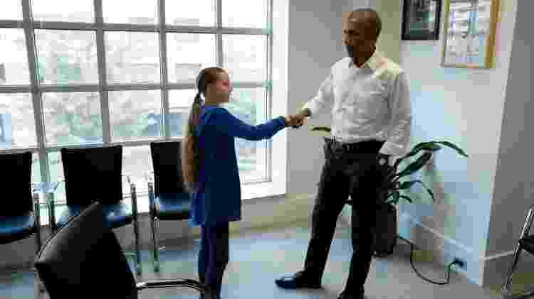 Greta se encontrou com Barack Obama na última terça-feira (18), em Nova York - Obama Foundation/Reuters