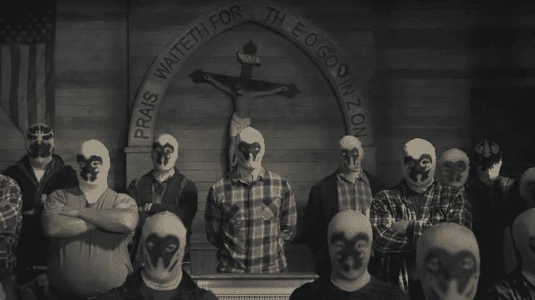 A Sétima Cavalaria, uma milícia supremacista branca inspirada no anti-herói Rorschach - Divulgação
