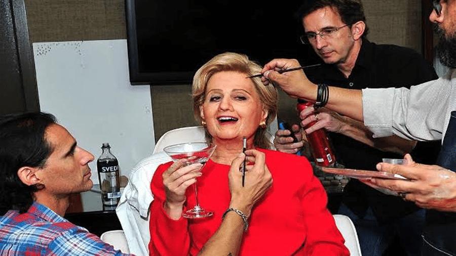 Katy Perry fantasiada de Hilary Clinton, no Halloween em 2016 - Reprodução/Instgram
