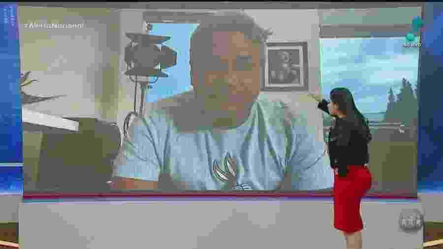 Sikêra reaparece na TV depois de passar mal - Reprodução/RedeTV!