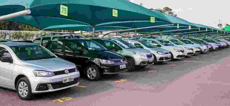 Pátio de locadora de veículos; governo paulista cobra ICMS sobre a venda de carros seminovos, que teve mais de R$ 2 bi de faturamento de 2018 a 2020 - Divulgação