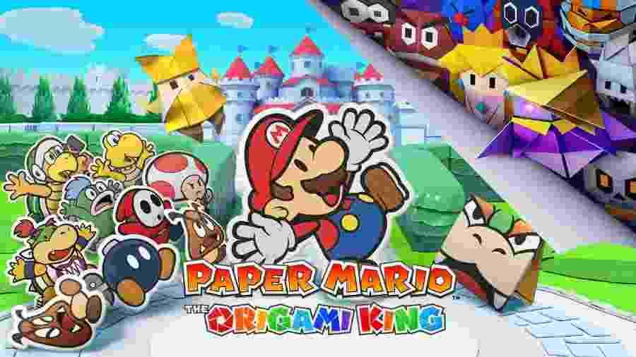 Paper Mario: The Origami King será o retorno da série de papel para os consoles - Divulgação/Nintendo