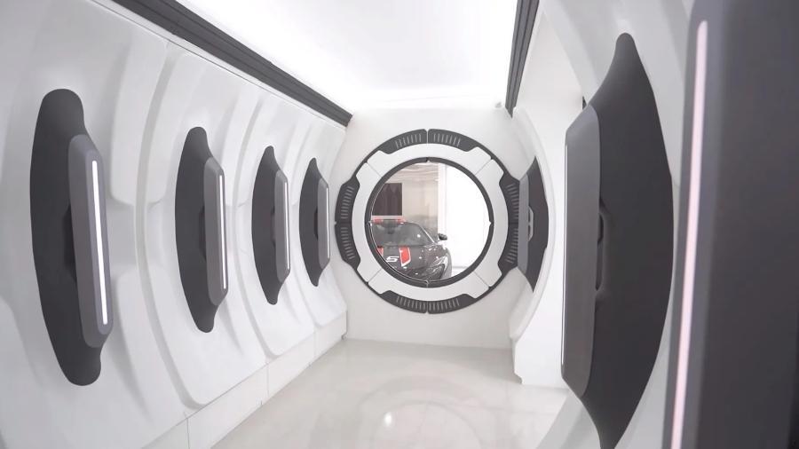 Entrada de garagem no estilo espaçonave - Divulgação