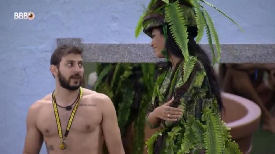 BBB 21: Caio e Pocah especulam sobre formação do 11º paredão - Reprodução/Globoplay