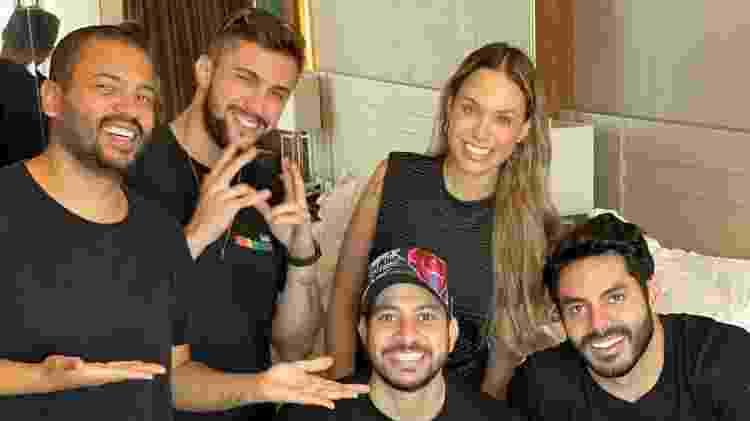 Projota, Arthur, Sarah, Caio e Rodolffo - Reprodução/Instagram @irodolffo - Reprodução/Instagram @irodolffo