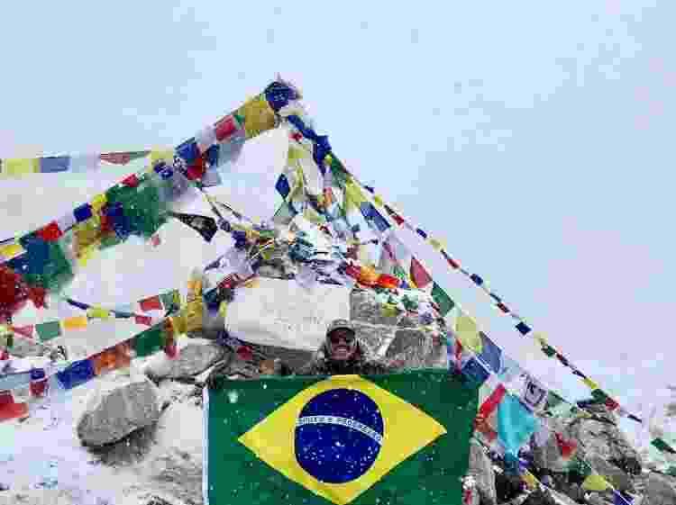 Danniel Oliveira no Everest - Arquivo pessoal - Arquivo pessoal