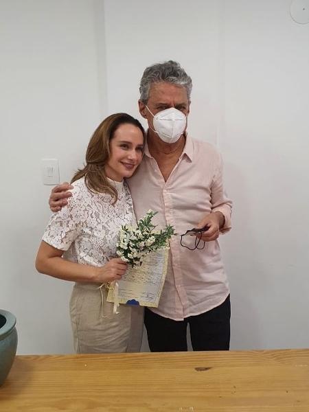 Chico Buarque e Carol Proner se casaram no Rio - Reprodução / Instagram