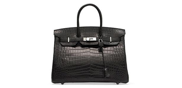 A bolsa Birkin croco é um dos itens de luxo mais desejados e seu preço pode chegar a R$ 74 mil - Divulgação