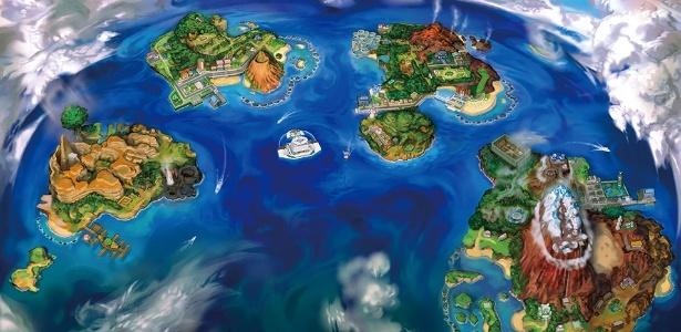 Dezenas de novas espécies de Pokémon habitam a região de Alola