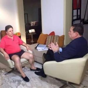 Garotinho concedeu entrevista a Roberto Cabrini